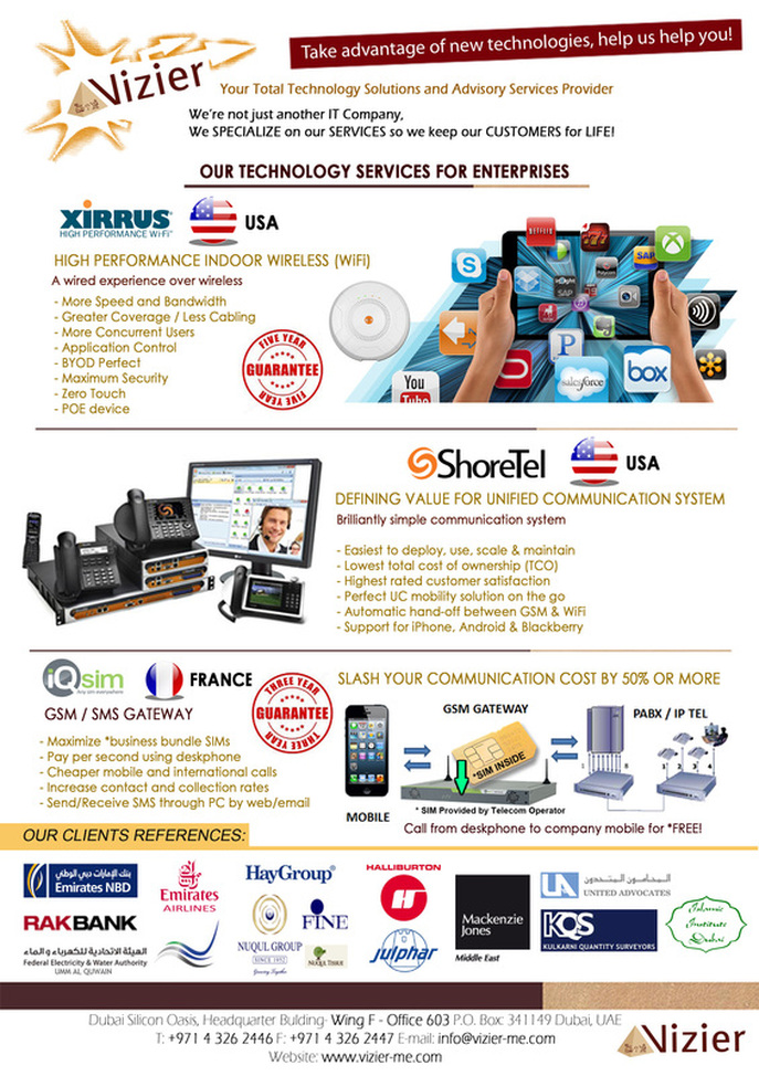 Services - Vizier - Technology and Advisory Solutions Provider